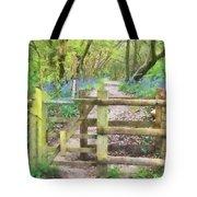 Kissing Gate Watercolour Tote Bag