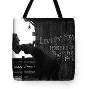 Kissing Horses Joe Kidd Set Old Tucson Arizona 1972 Tote Bag