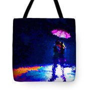 Kissing In The Rain Tote Bag