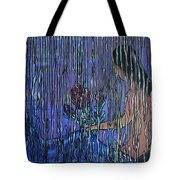 Kissing Rain Tote Bag