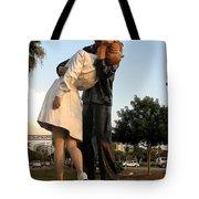 Kissing Sailor At Dusk - The Kiss Tote Bag