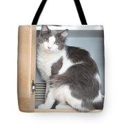 Kitchen Cubbard Cat Tote Bag