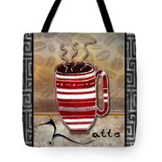Kitchen Cuisine Hot Cuppa Coffee Cup Mug Latte Drink By Romi And Megan Tote Bag by Megan Duncanson