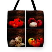 Kitchen Ingredients Collage Tote Bag