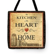 Kitchen Is The Heart Tote Bag