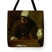 Kitchen Maid With The Supper At Emmaus, C.1618 Oil On Canvas Tote Bag