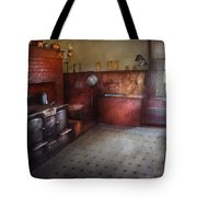 Kitchen - Storybook Cottage Kitchen Tote Bag by Mike Savad