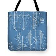 Kite Patent On Blue Tote Bag