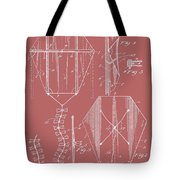 Kite Patent On Red Tote Bag
