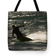 Kite Surfer 03 Tote Bag by Rick Piper Photography