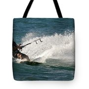 Kite Surfer 04 Tote Bag by Rick Piper Photography