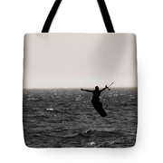Kite Surfing Pose Tote Bag