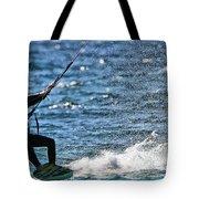Kite Surfing Splash Tote Bag by Dan Sproul