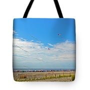 Kites Flying Over The Sand Tote Bag