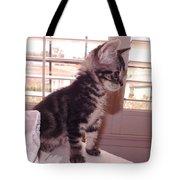 Kitten On Alert Tote Bag