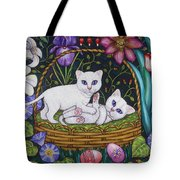 Kittens In A Basket Tote Bag