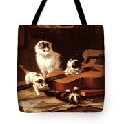 Kittens Playing With A Guitar Tote Bag