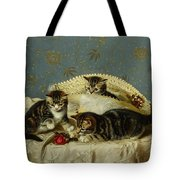 Kittens Up To Mischief Tote Bag