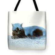 Kitty Blue IIII Tote Bag