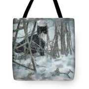 Kitty In The Cold Tote Bag