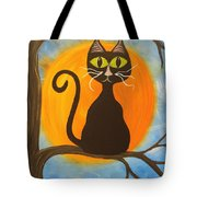 Kitty Of The Night Tote Bag
