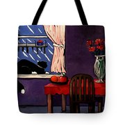 Kitty Over Manhattan Tote Bag