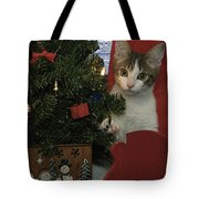 Kitty Says Happy Holidays Tote Bag