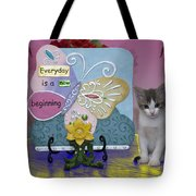 Kitty Says Wow Tote Bag