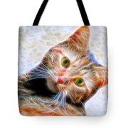 Kitty Strange Tote Bag