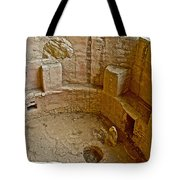 Kiva With Sipapu In Spruce Tree House On Chapin Mesa In Mesa Verde National Park-colorado Tote Bag