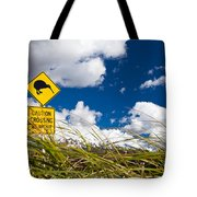 Kiwi Crossing Road Sign In Nz Tote Bag