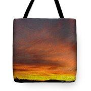 Klamath Sunset Of Fire Tote Bag