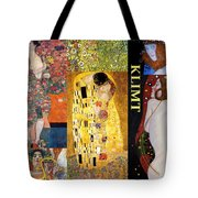 Klimt Collage Tote Bag