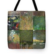 Klimt Landscapes Collage Tote Bag