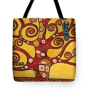 Klimt Study Tree Of Life Tote Bag