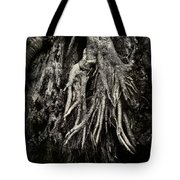Kneeling At The Feet Of The Green Man Tote Bag by Rebecca Sherman
