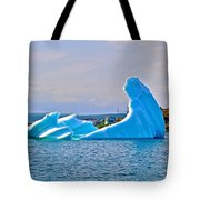 Kneeling Before The Queen Iceberg In Saint Anthony-newfoundland  Tote Bag