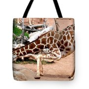 Kneeling Giraffe Tote Bag