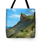 Knife Edge Road Overlooking Montezuma Valley In Mesa Verde National Park-colorado  Tote Bag