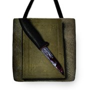 Knife With Book Tote Bag