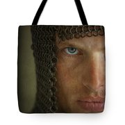 Knight In Chainmail Portrait Tote Bag