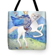Knight Of Swords Tote Bag