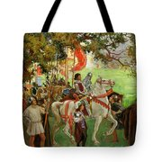 Knights Assembling, From Sir Nigel Tote Bag