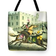 Knights Jousting Tote Bag