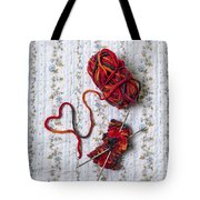 Knitted With Love Tote Bag