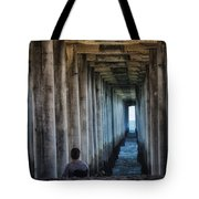 Knitter Under The Pier Tote Bag