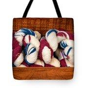 Knitting Yarn In Patriotic Colors Tote Bag