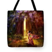 Knock At The Door Tote Bag