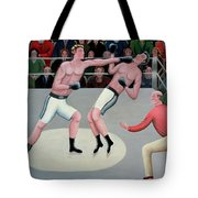 Knock Out Tote Bag by Jerzy Marek