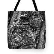 Knots And Swirls Bw Tote Bag
